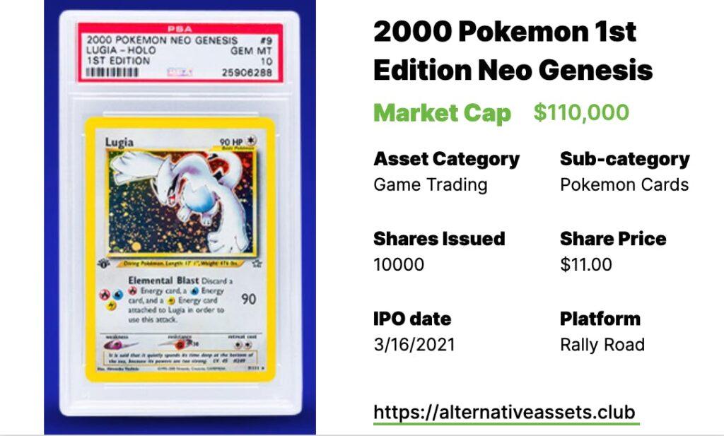 2000 Pokemon 1st Edition Neo Genesis Lugia Holo