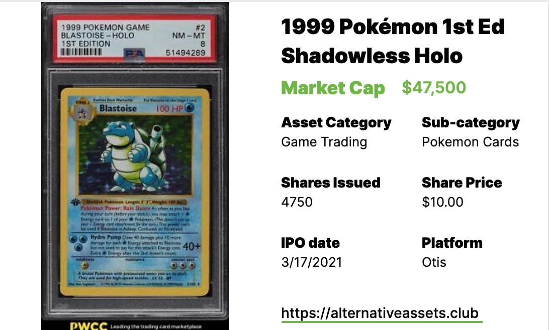 Pokémon Blastoise #2, 1st Edition Holo, PSA 10