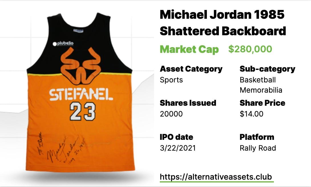 """MJ """"Shattered Backboard"""" Signed Jersey"""