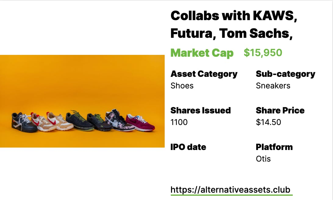 Sneakers Investing - Air Jordans 1s II, Nike x Artist Collection (Kaws, Futura, Tom Sachs), and Air Jordan 1 Modern Classics