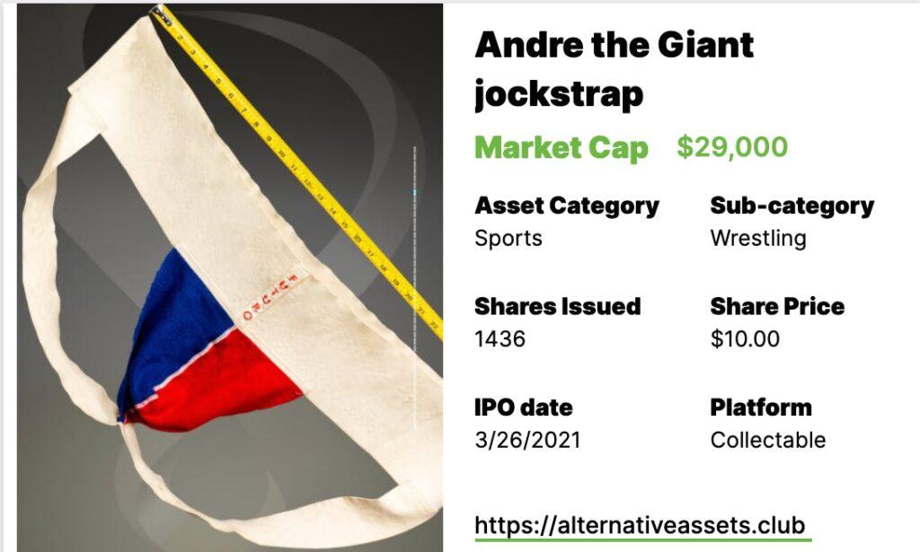 Giant jock strap + HOF baseball