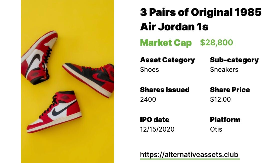 Sneakers Investing - 1985 Jordans 1s II Originals, Nike x Artist Collection, and Air Jordan 1 Modern Classics