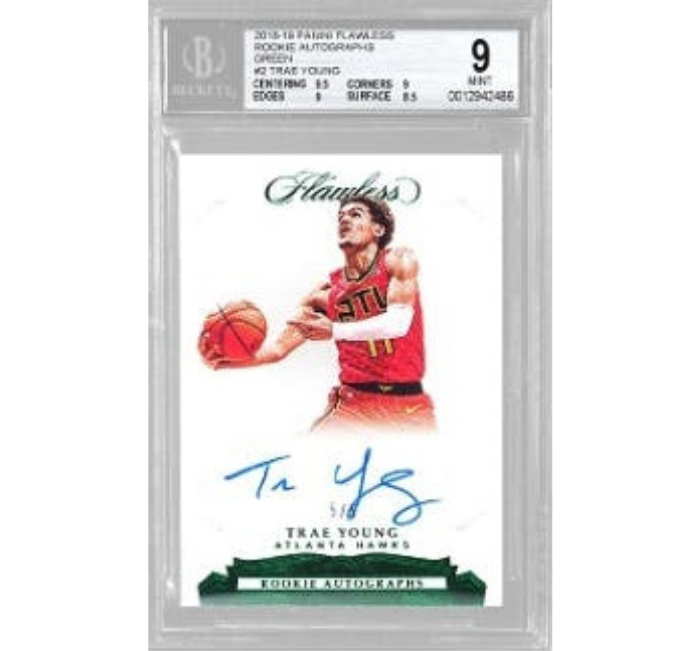 PANINI FLAWLESS ROOKIE AUTOGRAPH GREEN TRAE YOUNG
