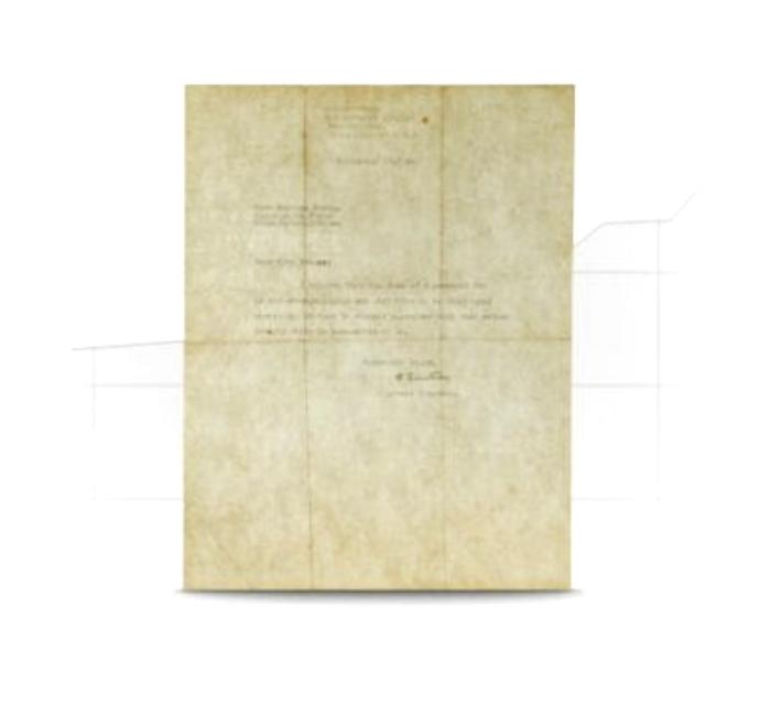 Albert Einstein Signed Letter on God