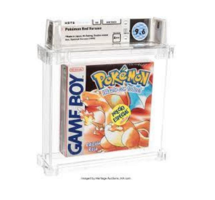 Pokemon Red WATA Gameboy 9.6 A++