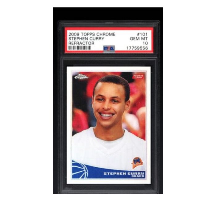 2009 TOPPS CHROME STEPHEN CURRY REFRACTOR