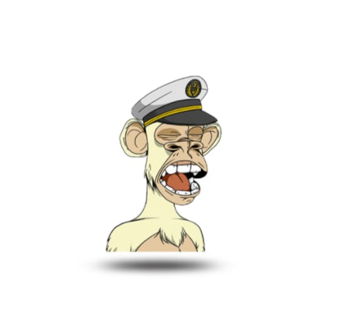 white colored nft bored ape