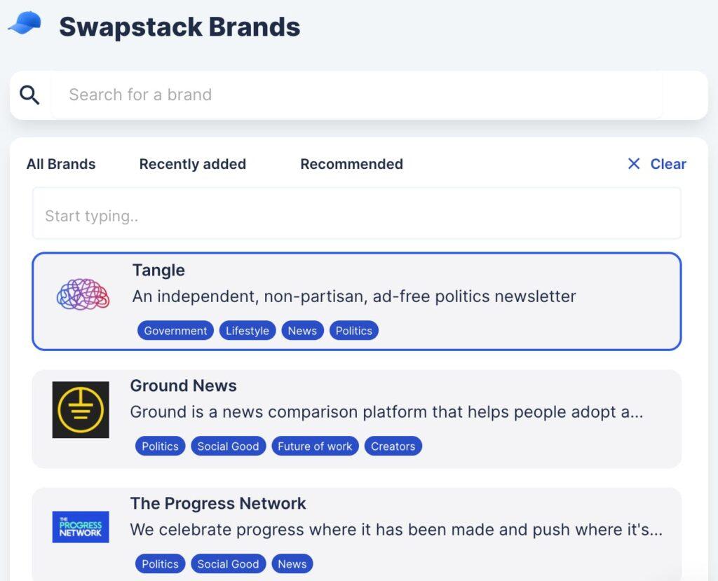swapstack example